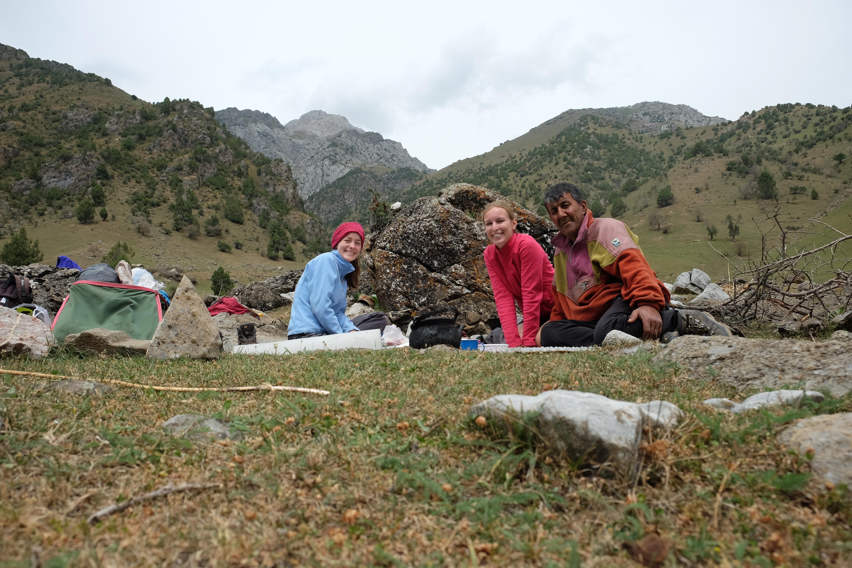 Sosta pranzo durante il trekking